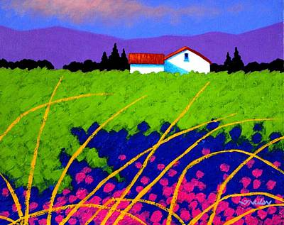 Christmas Greeting Painting - Study For Provence Painting by John  Nolan