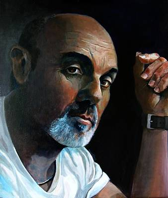 Artist Self Portrait Painting - Study For Ray by Ray Agius