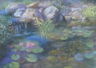 Pastel - Study For Water Garden by Bill Puglisi