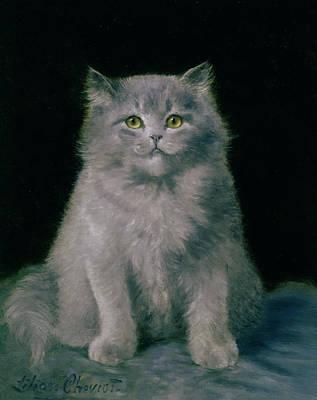 Study Of A Cat  Art Print by Lilian Cheviot