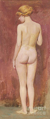 Study Of A Nude Art Print by Murray Bladon