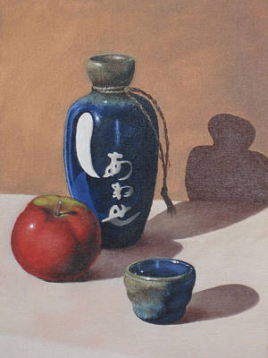 Sake Painting - Study Of Ceramic by Adam Strong