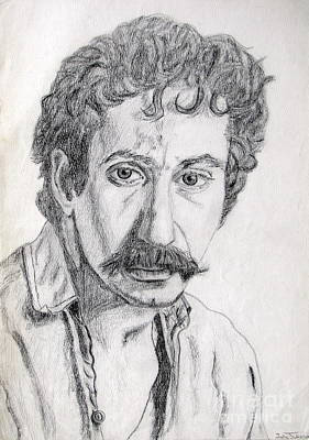 Study Of Jim Croce Art Print by Julie Coughlin