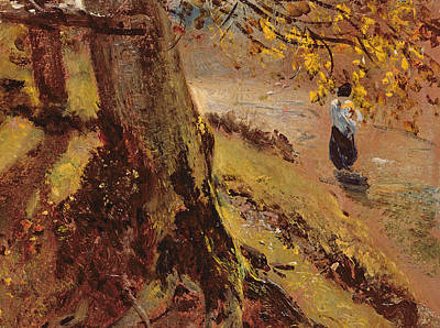 John Constable Painting - Study Of Tree Trunks by John Constable