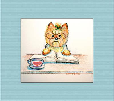 Studying For Grandpa Art Print by Catia Cho