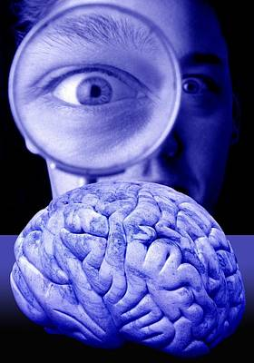 Studying The Brain, Conceptual Image Art Print by Victor De Schwanberg