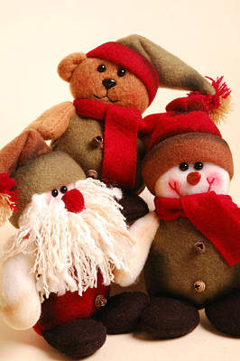 Photograph - Stuffed Christmas Toys by Carol Vanselow