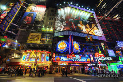 Photograph - Stunning Lights Of 42nd Street  by Yhun Suarez