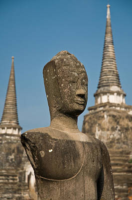 Photograph - Stupa Chedi Of A Wat In Ayutthaya Thailand by U Schade