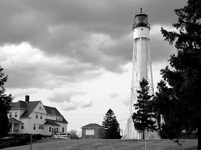 Photograph - Sturgeon Bay Ship Canal Light by Keith Stokes