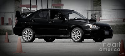 Subaru Impreza Wrx Sti Black Art Print by Bonae VonHeeder