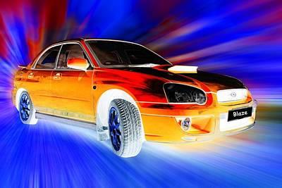 Subaru Impreza Digital Art - Subaru by Sharon Lisa Clarke