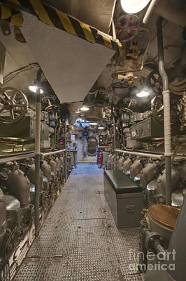 Submarine Engine Room Art Print