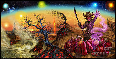 Mixed Media - Submit As The World Burns by Tony Koehl