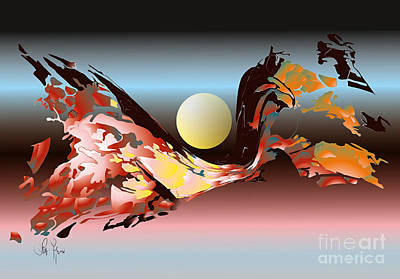 Art Print featuring the digital art Substance And Space 2 by Leo Symon