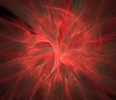 Photograph - Subtle Aura-fractal Art by Lourry Legarde