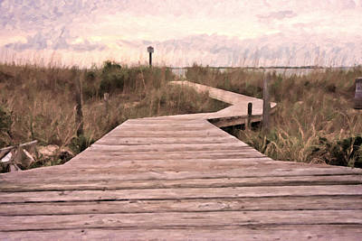 Beach Photograph - Subtle Bridge by Betsy Knapp