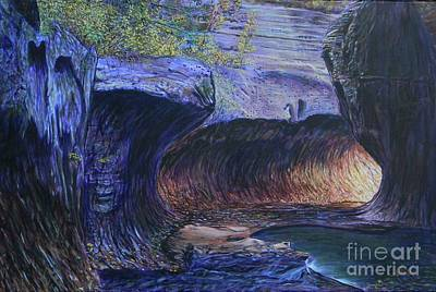 Painting - Subway At Zion National Park by LeRoy Jesfield