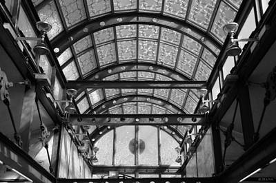 Subway Glass Station In Black And White Art Print by Rob Hans