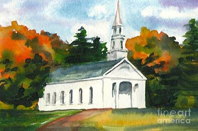 Painting - Sudbury Chapel In Fall II by Lynn Babineau