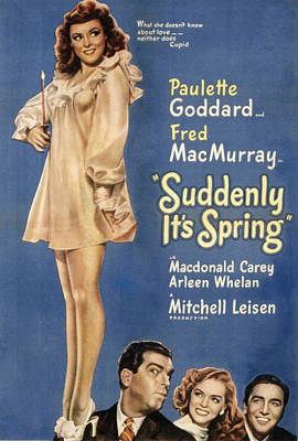 Postv Photograph - Suddenly, Its Spring, Paulette Goddard by Everett