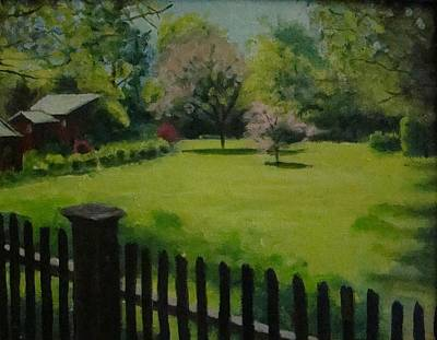 Painting - Sue's Yard by Mark Haley