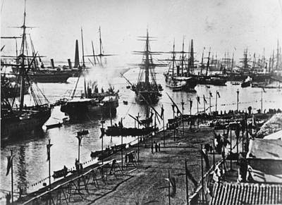 Inauguration Photograph - Suez Canal Opened by Otto Herschan