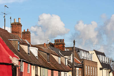 Suffolk Rooftops Art Print by Tom Gowanlock