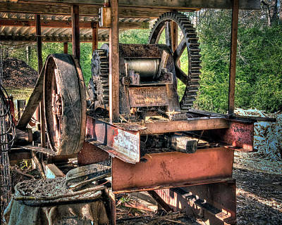 Photograph - Sugar Cane Mill by Tamyra Ayles