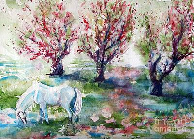 Painting - Sugar In The Apple Orchard Meadow by CheyAnne Sexton