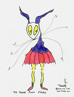 Sugar Plum Fairy Art Print by Tis Art
