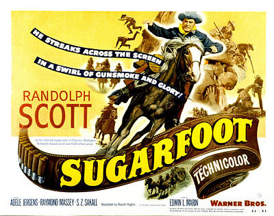Fid Photograph - Sugarfoot, Randolph Scott, 1951 by Everett