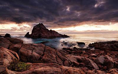 Coastline Digital Art - Sugarloaf Rock by Heather Thorning
