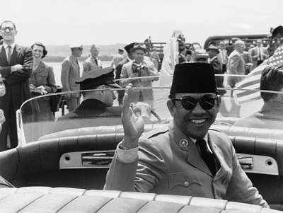 Sukarno, President Of Indonesia Art Print by Everett