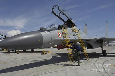 Sukhoi Photograph - Sukhoi Su-30 Aircraft Of The Indian Air by Stocktrek Images