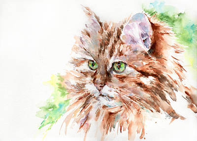 Painting - Suki  The Tabby Cat by Stephie Butler