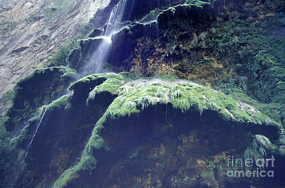 Sumidero Canyon Waterfall Chiapas Mexico Art Print