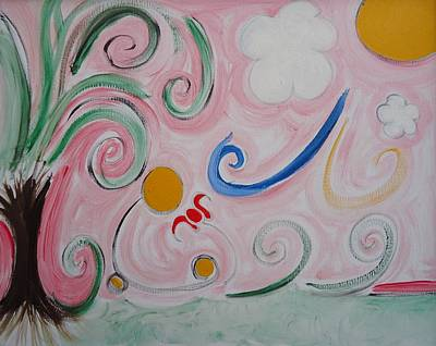One Of A Kind Painting - Summer - A Period Of Fruition Fulfillment Happiness Or Beauty. by Cory Green