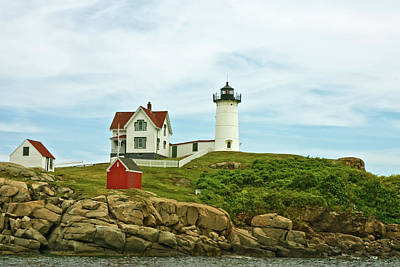 Photograph - Summer Afternoon At Nubble Light by Paul Mangold
