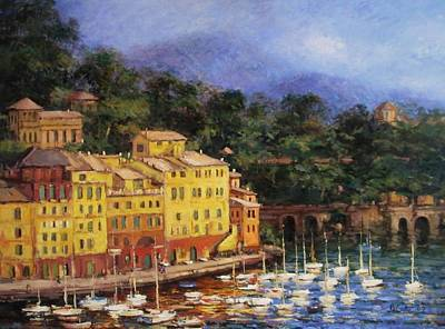 Portofino Italy Painting - Summer Afternoon In Portofino by R W Goetting