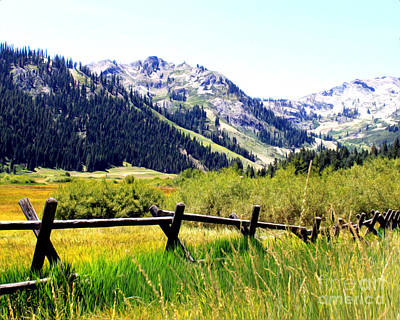 Summer At Squaw Valley Art Print by Anne Raczkowski