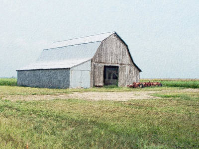 Art Print featuring the digital art Summer Barn by Debbie Portwood