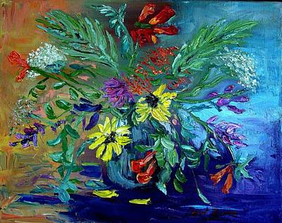 Art Print featuring the painting Summer Bouquet by Carol Berning