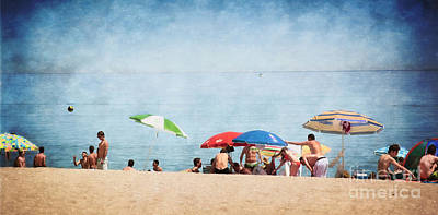 Summer By The Sea Print by Mary Machare