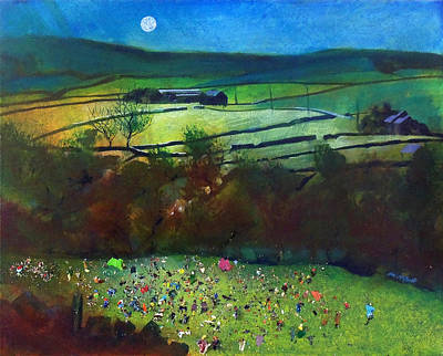 Gathering Painting - Summer Camp Late Arrival by Neil McBride