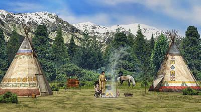 Digital Art - Summer Camp by Walter Colvin