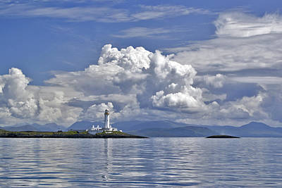 Photograph - Summer Clouds Over Lismore Lighthouse by Gary Eason