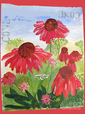 Painting - Summer Coneflowers by Sandy McIntire