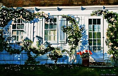 Painting - Summer Cottage by Susan Elise Shiebler