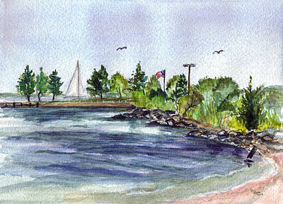 Bayville Painting - Summer Cove by Clara Sue Beym